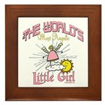 Angelic Little Girl Framed Tile