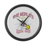 Angelic Little Girl Large Wall Clock