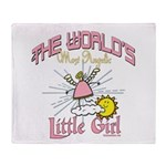 Angelic Little Girl Throw Blanket