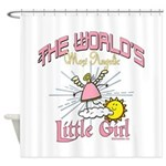 Angelic Little Girl Shower Curtain