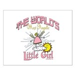 Angelic Little Girl Small Poster