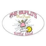 Angelic Little Girl Sticker (Oval 10 pk)