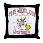 Angelic Grammy Throw Pillow