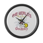 Angelic Grammy Large Wall Clock