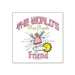 Angelic Friend Square Sticker 3