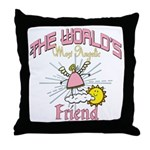 Angelic Friend Throw Pillow