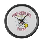 Angelic Friend Large Wall Clock