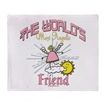 Angelic Friend Throw Blanket