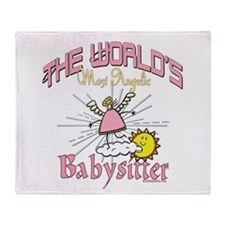 Angelic Babysitter Throw Blanket