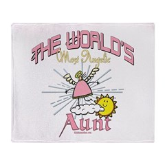 Angelic Aunt Throw Blanket