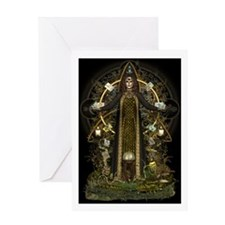 Wiccan Greetings Card - Witch of the Tarot