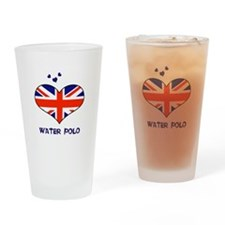 LOVE WATER POLO UNION JACK Drinking Glass
