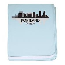 Portland Skyline baby blanket