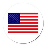 USA flag Round Car Magnet