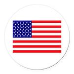 USA flag Round Car Magnet