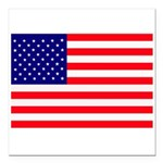 USA flag Square Car Magnet 3