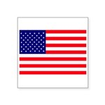 USA flag Square Sticker 3