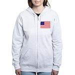 USA flag Women's Zip Hoodie