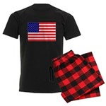 USA flag Men's Dark Pajamas