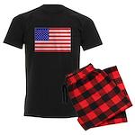 USA flag Men's Dark Pajamas