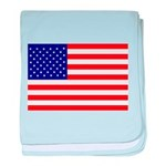 USA flag baby blanket
