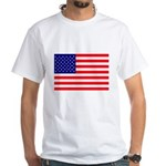 USA flag White T-Shirt