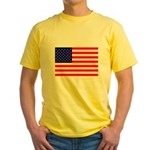 USA flag Yellow T-Shirt