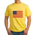 USA flag Yellow T-Shirt