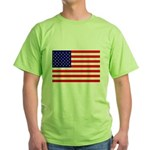 USA flag Green T-Shirt