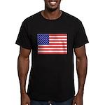 USA flag Men's Fitted T-Shirt (dark)