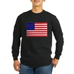 USA flag Long Sleeve Dark T-Shirt