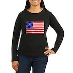 USA flag Women's Long Sleeve Dark T-Shirt