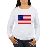 USA flag Women's Long Sleeve T-Shirt