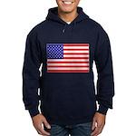 USA flag Hoodie (dark)