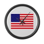 USA flag Large Wall Clock
