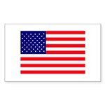 USA flag Sticker (Rectangle 50 pk)