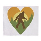 Bigfoot Love Throw Blanket