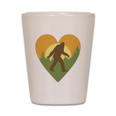 Bigfoot Love Shot Glass