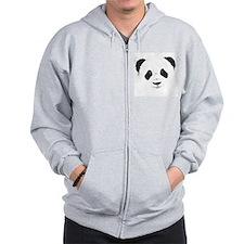 Panda Zipped Hoody