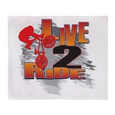 BMX Bike Rider/Live to Ride Throw Blanket