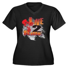 BMX Bike Rider/Live to Ride Women's Plus Size V-Ne