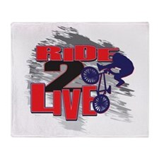 BMX Bike Rider/Ride to Live Throw Blanket