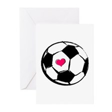 Soccer Heart Greeting Cards (Pk of 10)