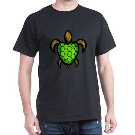 Green Shell Turtle Dark T-Shirt
