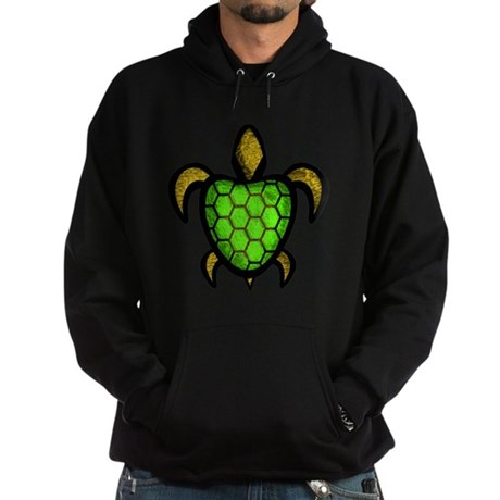 Green Shell Turtle Hoodie (dark)