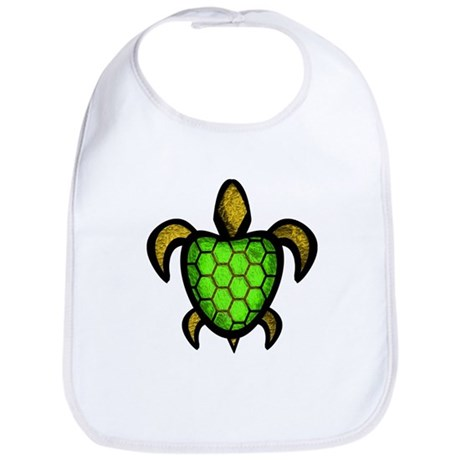 Green Shell Turtle Bib
