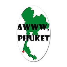 Phuket.png 20x12 Oval Wall Decal