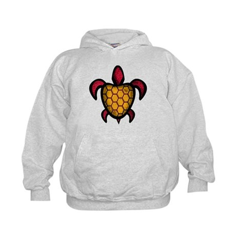 Orange Shell Turtle Kids Hoodie
