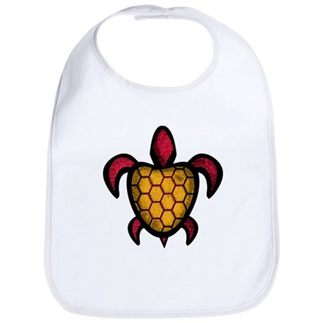 Orange Shell Turtle Bib