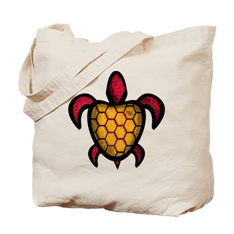 Orange Shell Turtle Tote Bag
